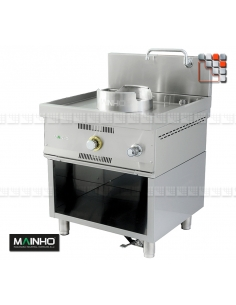 Wok W-100 stainless steel Mainho M04-W100 MAINHO® Fryers Wok Steam-Oven