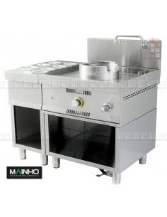 Wok W-100 meuble gastro inox MAINHO M04-W100S MAINHO® Friteuse Wok Four Vapeur