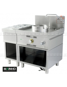 Wok W-100 furniture gastro stainless steel Mainho M04-W100S MAINHO® Fryers Wok Steam-Oven