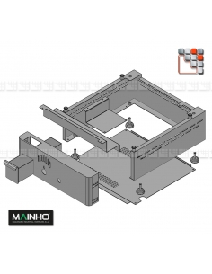 Front Stainless steel Carter Range NS NC Mainho 109MHZ02020 MAINHO SAV - Accessoires Mainho Spares