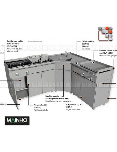 Grill ELB-31GN Eco-Line Barbecue Mainho M04-ELB31GN MAINHO® ECO-LINE MAINHO Food Truck