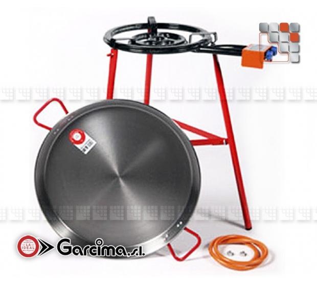Kit Paella Tabarca 50D Acier Poli Garcima G05-K10050 GARCIMA® LaIdeal Kit Plat Paella Garcima