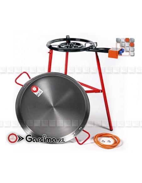 Kit Paella Tabarca 50L PataNegra G05-K85050L GARCIMA® LaIdeal Kit Plat Paella Garcima
