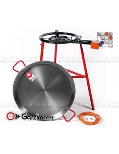 Mirador 60D Polished Steel Paella Kit G05-K10060 GARCIMA® LaIdeal Kit dish Paella Garcima