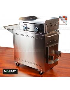 Pack NC60 CNE80 Mainho M04-CNE80NC60TB A la Plancha® Plancha MAINHO NOVO CROM SNACK