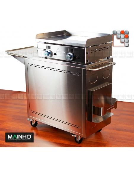 Pack Plancha Chariot Rollent NC-60TB MAINHO M04-CNE80NC60TB A la Plancha® Plancha Premium NOVOCROM NOVOSNACK