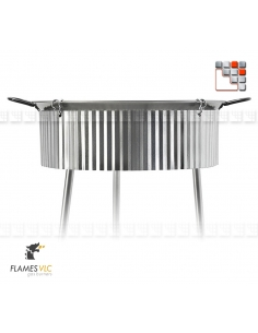 Stainless Steel Windshield for Paella Flames VLC G05-3U70 4U80 FLAMES VLC® Burner Gas Flames VLC