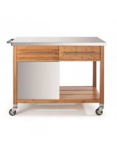 Bamboo plancha trolley BB100 D19-00067N DM CREATION® Wood & stainless steel Outdoor Trolley