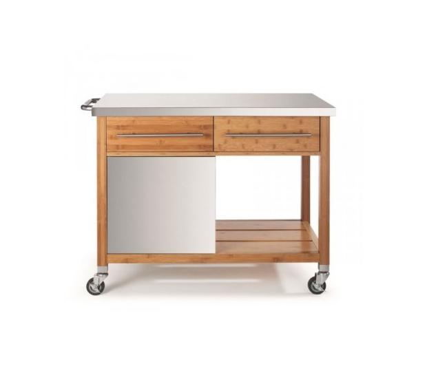 Chariot Plancha Bambou BB100 D19-00067N DM CREATION® Dessertes & Chariots Bois Inox
