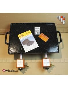 KIT Burners Paella L20 + Plancha emaille GUISON G46-4976020 GARCIMA® LaIdeal Gas Burners Paella Garcima