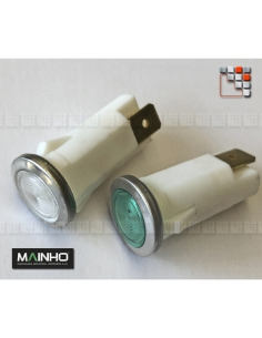 Voyant Témoin Chromé 230V MAINHO M36-12F63C MAINHO SAV - Accessoires Pièces détachées Electrique MAINHO