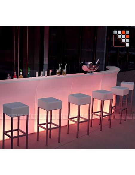 Bar Lumineux Nemo - Element Droit V50-82727  Mobilier Exterieur - Ombrage