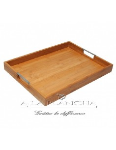 Tray Bamboo Rectangular DM CREATION D19-40 dm CREATION® Table decoration