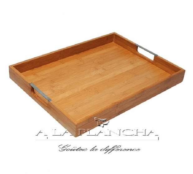 Tray Bamboo Rectangular DM CREATION 504AC00040 dm CREATION® Table decoration