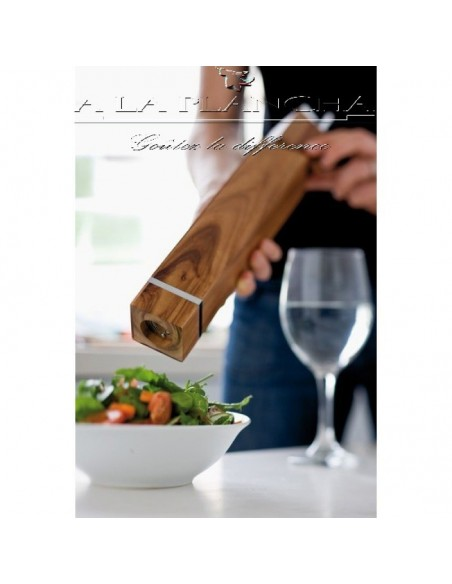 Pepper mill Square - Acacia HAS a LA PLANCHA A17-PM36 A la Plancha® Table decoration