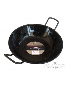 Stove Hollow Emaillee D36 PataNegra Garcima 87036 GARCIMA® LaIdeal Enamelled PataNegra Paella Pan