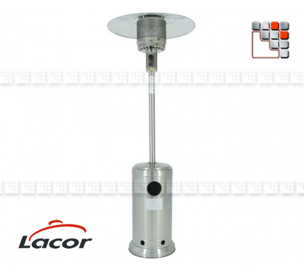 LACOR Gas Stainless Steel Terrace Heating L10-69400 LACOR® Outdoor Patio Heater