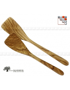 Spatula Galbee Luberon in olive wood LB B18-303 LAURENT BARBIER France Table decoration