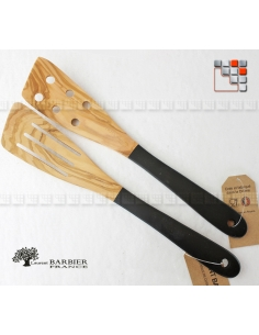Set Olive Wood Salad Servers LAURENT BARBIER B18-303103-113 LAURENT BARBIER France Couverts de Service