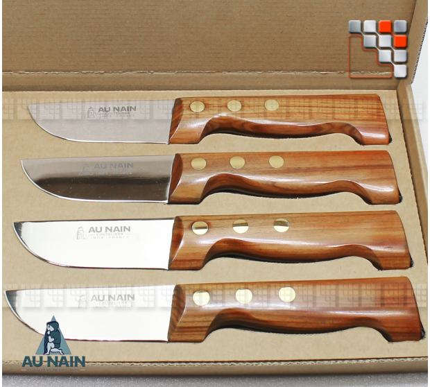 Box set 4 knives steak P'tit Boucher rosewood AU NAIN A38-1501351 AU NAIN® Coutellerie Table decoration