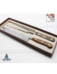 Service Découper Prince Gastronome Palissandre AUNAIN A38-1992001 AU NAIN® Coutellerie Couteaux & Découpe