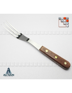 Curved Fork 3 Prongs Rosewood 28 AU NAIN A38-1320501 AU NAIN® Coutellerie Couverts de Service