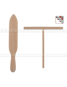 Spatule à crêpes et rozell Hetre A17-97 DM CREATION® Couverts de Service
