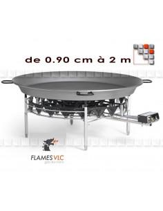 Paravent Rechaud Paella Geante G05-X09 FLAMES VLC® Bruleur Gaz Flames VLC