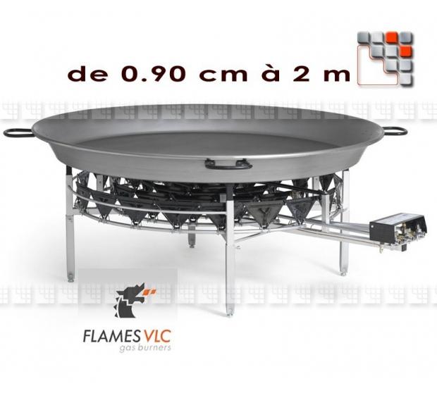 Windshield Burner Giant Paella Flames G05-X09 FLAMES VLC® Burner Gas Flames VLC