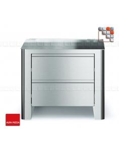 Basic QUBO 90 Stainless steel ALFAPIZZA A32-BFQ90-INX ALFA PIZZA® Mobil Oven ALFA PIZZA