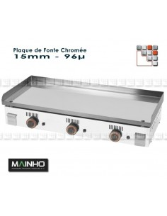 Plate Plancha Chrome Series NC M36-ZPL160 MAINHO SAV - Accessoires MAINHO Spares Parts Gas