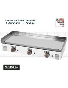 Plaque Plancha Chrome Serie NC M36-ZPL160 MAINHO SAV - Accessoires Pièces détachées Gaz MAINHO