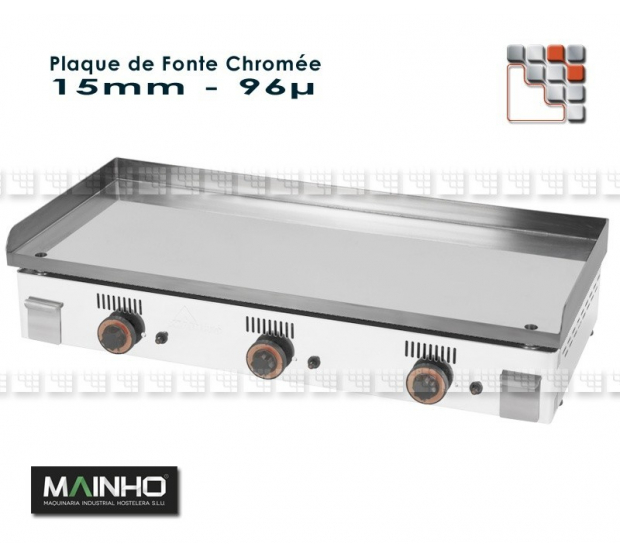 Plaque de Plancha Chrome Serie NC