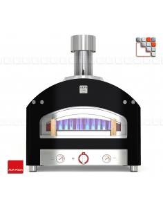 Oven for PIAZZA 90 Stainless steel ALFAPIZZA A32-FXPZ90 ALFA PIZZA® Mobil Oven ALFA PIZZA