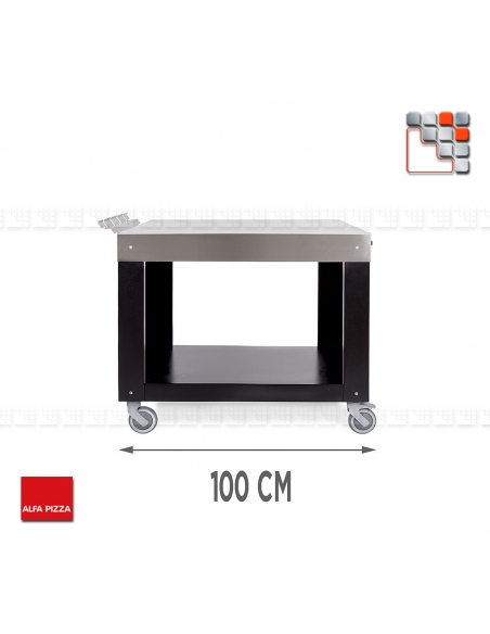 Chariot Multifonctions Station Alfa Forni A32-ACTAVO ALFA PIZZA® Fours mobiles ALFA PIZZA