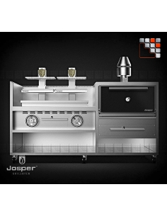 Combo 45 Oven + grill basque HJX45M Josper J48-CVJ-050-2-HJX-45 JOSPER Grill Charcoal Oven & Rotisserie JOSPER