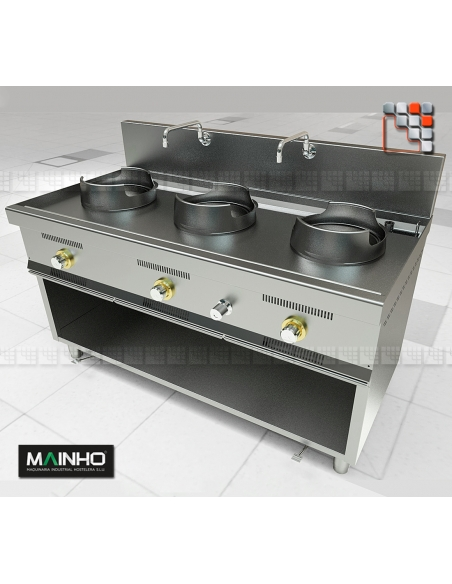 Wok W-300 MAINHO M04-W300 MAINHO® Friteuse Wok Four Vapeur