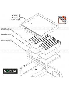 Ensemble Resistance de Plaque de Cuisson MAINHO M36-03302000002T MAINHO SAV - Accessoires Pièces détachées Electrique MAINHO