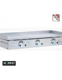 Plancha NCR-100 Novo Crom Grooved Mainho M04-NCR100N MAINHO® Plancha MAINHO NOVO CROM SNACK