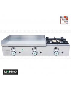 Plancha NSF-60N Novo-Snack Gaz MAINHO M04-NSF60N MAINHO® Plancha Premium NOVOCROM NOVOSNACK