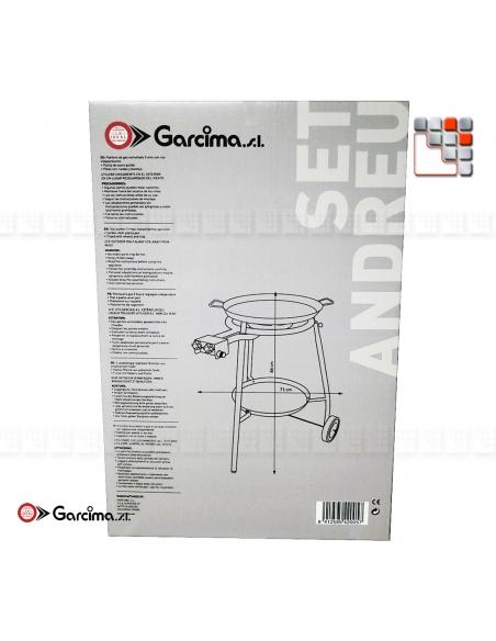 Set Paella Andreu 46D Acier Poli Garcima G05-K42005 GARCIMA® LaIdeal Kit Plat Paella Garcima