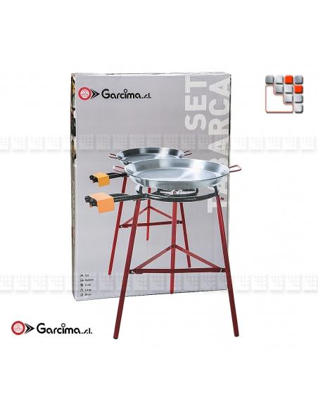 Kit Paella 50D TABARCA Acier Poli G05-K10050 GARCIMA® LaIdeal Kit Plat Paella Garcima