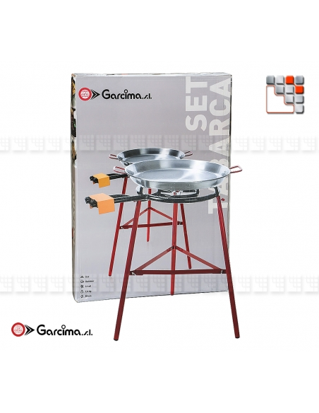 Kit Paella Tabarca 50D Acier Poli G05-K10050 GARCIMA® LaIdeal Kit Plat Paella Garcima