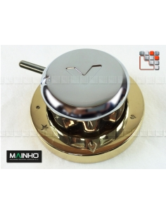 copy of Command button chrome MAINHO. M36-0122 MAINHO SAV - Accessoires MAINHO Spares Parts Gas