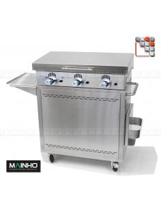 Pack Plancha NS-80 CNE-80 Mainho M04-CNE80NS80 A la Plancha® Plancha MAINHO NOVO CROM SNACK