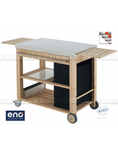 Plancha Mobilot ENO trolley E07-M09 ENO®  Wood & stainless steel Outdoor Trolley