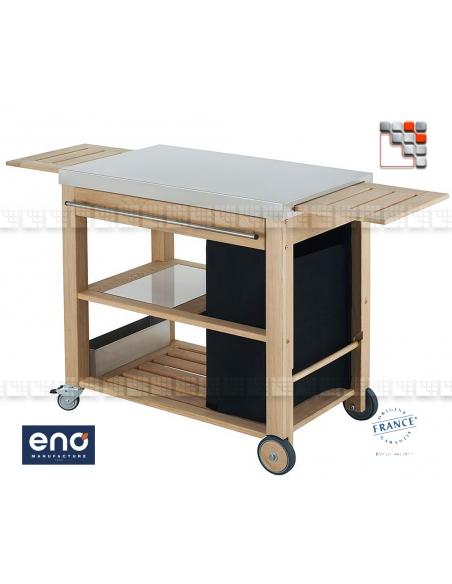 Chariot Plancha Mobilot ENO E07-M09 ENO®  Dessertes & Chariots Bois Inox