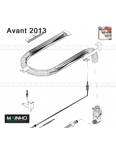 MAINHO Plancha Gas Ramp M36-2062 MAINHO SAV - Accessoires MAINHO Spares Parts Gas