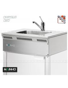 Évier Inox ELFR Eco-Line MAINHO M04-ELFR MAINHO® Gamme ECO-LINE pour Cuisine Compacte ou Food-Truck