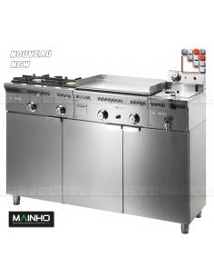 Jeu de Portes Inox KM Eco-Line MAINHO M04-KM MAINHO® Gamme ECO-LINE pour Cuisine Compacte ou Food-Truck